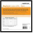 Magellan MapSend Lakes USA West - Memory Card